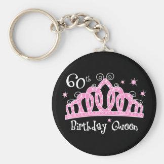 60.a reina DK del cumpleaños de la tiara Llavero Redondo Tipo Pin