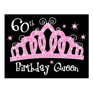 60 a reina DK del cumpleaños de la tiara Postal
