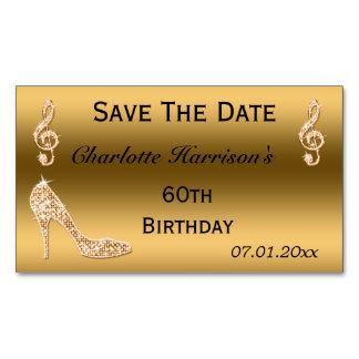 60.a reserva atractiva el estilete del oro de la tarjetas de visita magnéticas (paquete de 25)