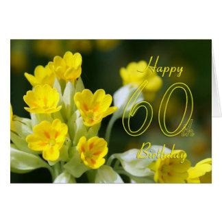 60.a tarjeta de cumpleaños con la flor bonita, tar