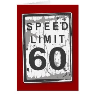 60.a tarjeta divertida del límite de velocidad del