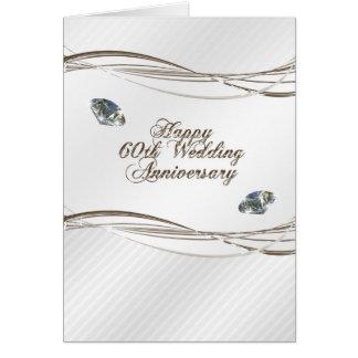 60.a tarjeta feliz del aniversario de boda