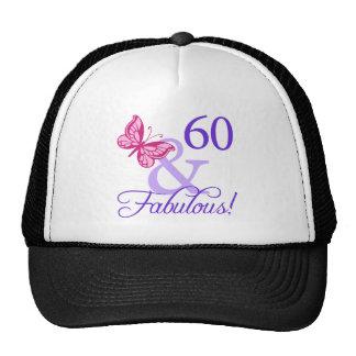 60 And Fabulous Birthday Mesh Hats