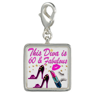 60 AND FABULOUS DIVA CHARMS