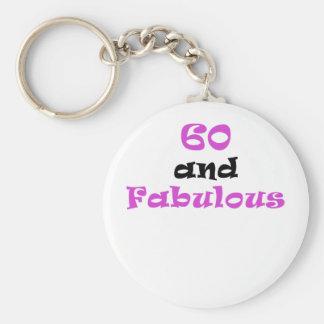 60 and Fabulous Keychain