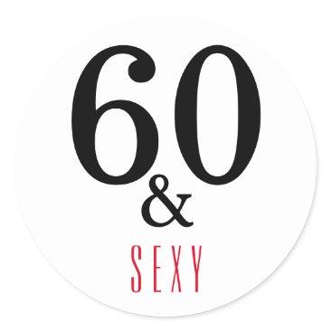 partridgelanestudio 60 and Sexy 60th Topography 60th Birthday Classic Round Sticker