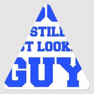 60-and-still-best-looking-guy-FRESH-BLUE.png Triangle Sticker