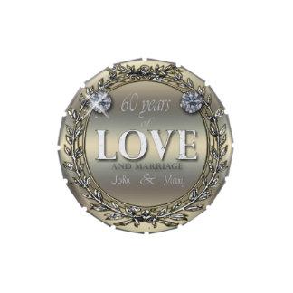 60 años de amor frascos de dulces