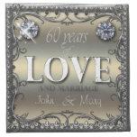 60 años de amor servilleta imprimida