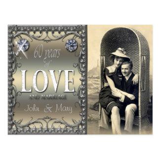 60 años de amor tarjeta postal
