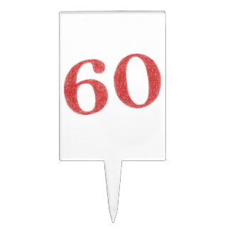 60 años de aniversario figura de tarta