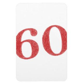 60 años de aniversario imán rectangular