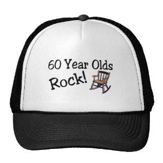 60 años de la roca (mecedora) gorros