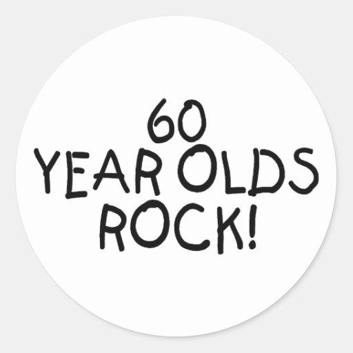 60 años de la roca pegatina redonda