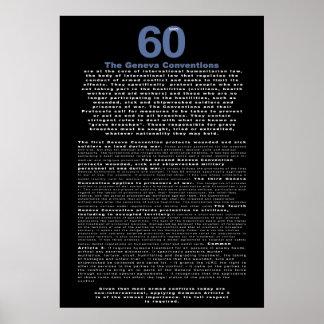 60 años, el convenio de Ginebra Impresiones