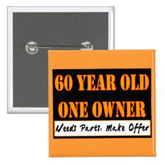 60 años, un dueño - las piezas de las necesidades, pin