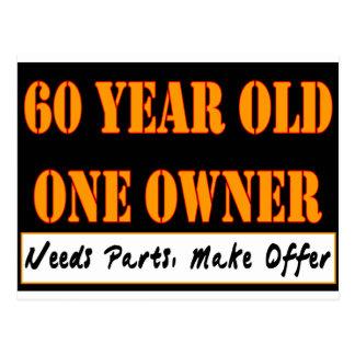 60 años, un dueño - las piezas de las necesidades, postales
