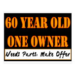 60 años, un dueño - las piezas de las necesidades, tarjeta postal