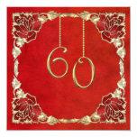 """60.as invitaciones del aniversario de boda del invitación 5.25"""" x 5.25"""""""