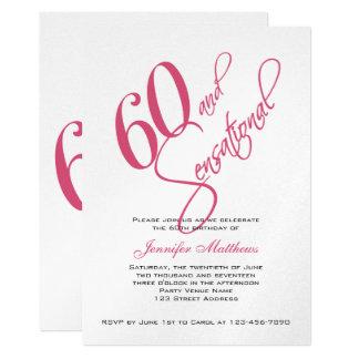 """60.as invitaciones del cumpleaños de la plata invitación 5"""" x 7"""""""