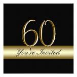 60.as invitaciones del cumpleaños del metal de la  anuncio