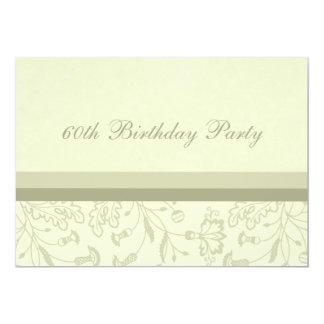60.as invitaciones florales de la fiesta de comunicados personalizados
