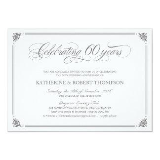 60.as invitaciones formales del aniversario anuncio personalizado