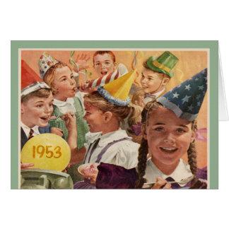 60 as memorias retras 1953 de la niñez de la fiest felicitaciones
