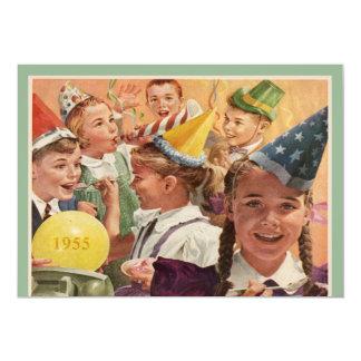 60.as memorias retras 1955 de la niñez de la invitación 12,7 x 17,8 cm