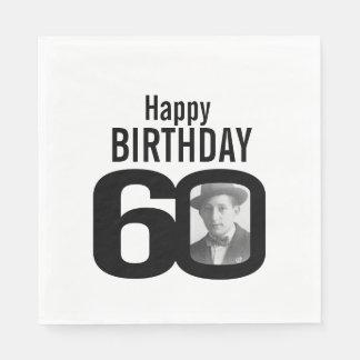 60.as servilletas blancos y negros de la foto del servilletas de papel
