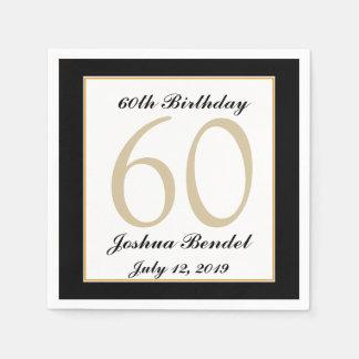 60.as servilletas personalizadas de la fiesta de c servilleta de papel