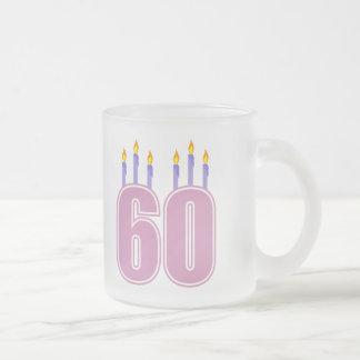 60 Birthday Candles (Pink / Purple) Mug