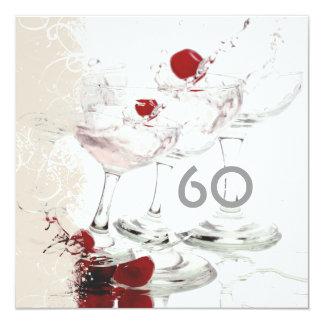 "60 Birthday celebration party major CUSTOMIZE 5.25"" Square Invitation Card"