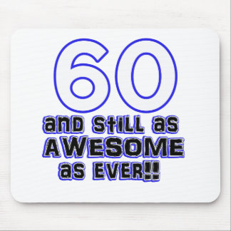 60 birthday design mouse pad
