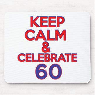 60 birthday design mousepads