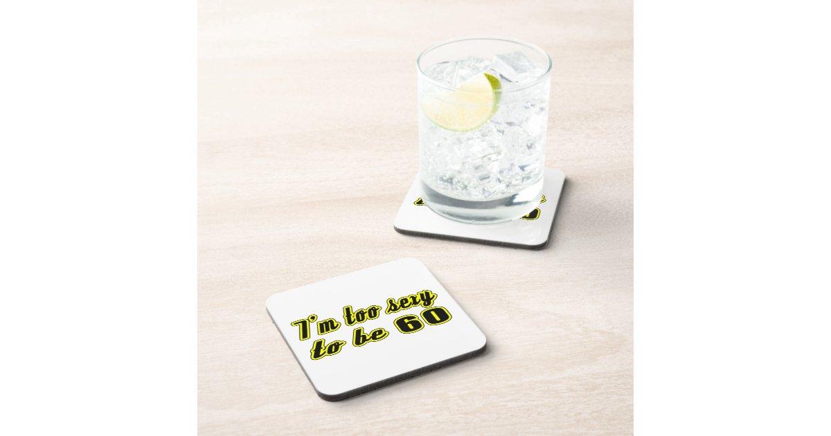 60 Birthday Designs Drink Coaster Zazzle