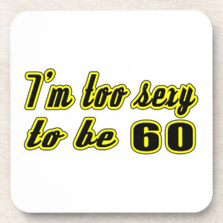 60 birthday designs drink coaster