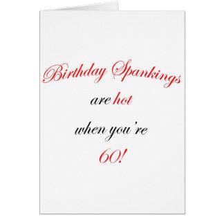 60 Birthday Spanking Card