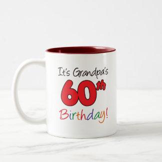 60 Birthday Two-Tone Coffee Mug