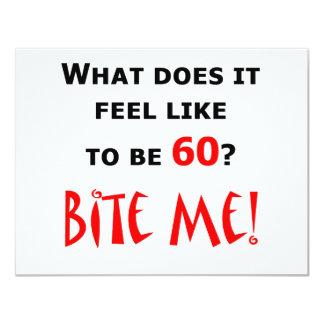 60 Bite Me! 4.25x5.5 Paper Invitation Card