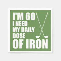 60 Daily Dose Of Iron Golfer Party Napkins