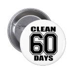 60 days  clean black 2 inch round button