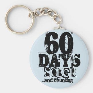 60 Days Sobriety Keychain