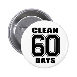60 días limpian negro pin redondo de 2 pulgadas
