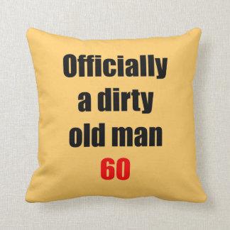 60 Dirty Old Man Throw Pillow