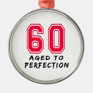 60 envejeció al diseño del cumpleaños de la perfec ornamento para arbol de navidad