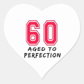 60 envejeció al diseño del cumpleaños de la perfec etiqueta