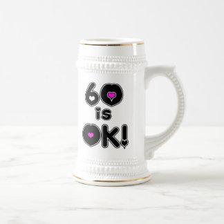60 es cumpleaños ACEPTABLE Tazas De Café