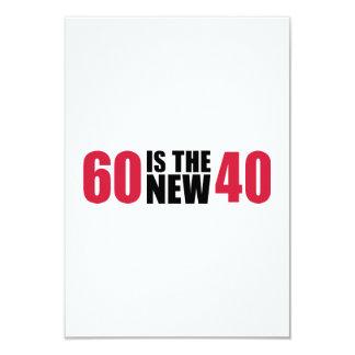 60 es el nuevo cumpleaños 40 invitacion personalizada