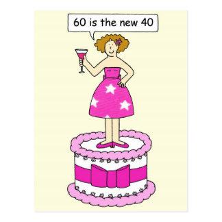 60 es el nuevo cumpleaños de 40 hembras postales